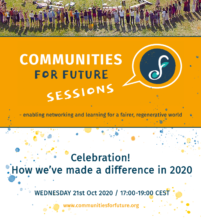 Communities for Future Session #1 – Celebration! How we've made a difference in 2020